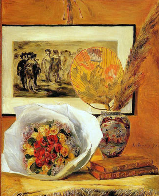Still Life with Bouquet - Pierre Auguste Renoir