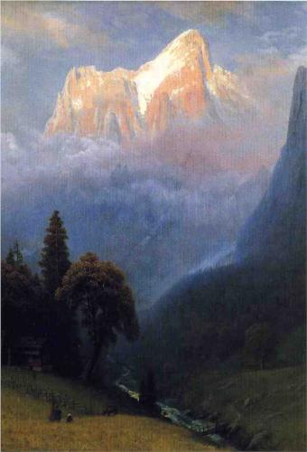 Storm Among the Alps - Albert Bierstadt