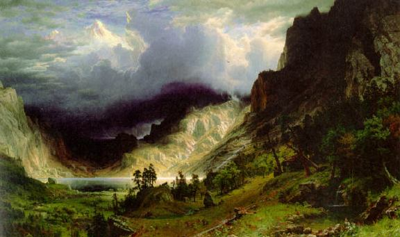 A Storm in the Rocky Mountains, Mt. Rosalie - Albert Bierstadt