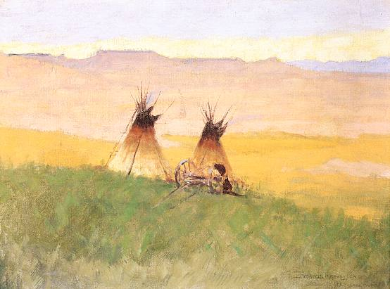Stormy Morning at the Badlands - Frederic Remington