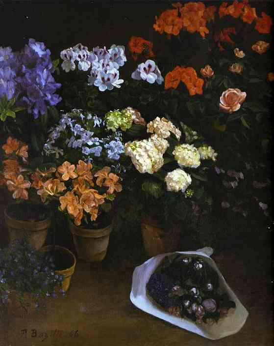 Study of Flowers - Frederic Bazille