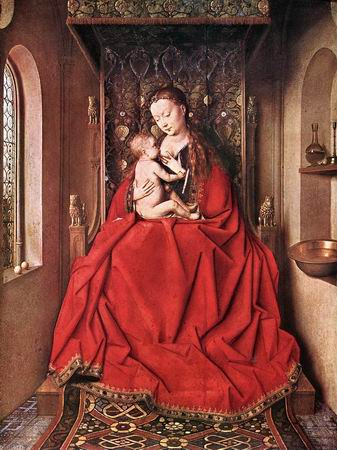 Suckling Madonna Enthroned 1436 - Jan van Eyck