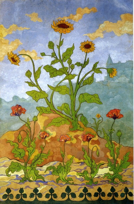 Sunflowers and Poppies - Paul Ranson