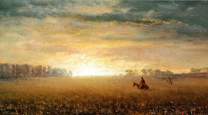 Sunset of the Prairies - Albert Bierstadt