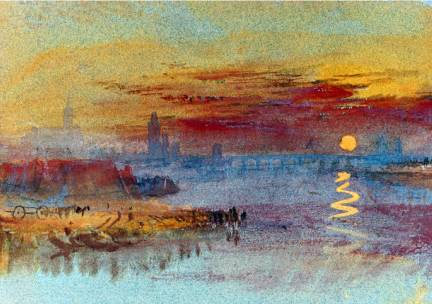 Sunset on Rouen - Joseph Mallord William Turner