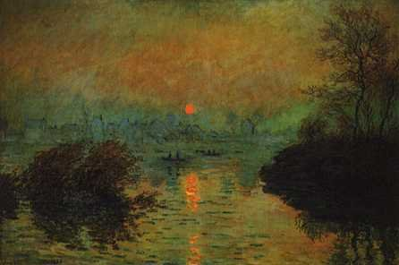 Sunset on the Seine Winter Effect - Claude Monet
