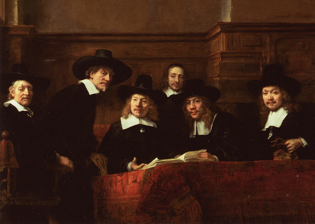 Syndics of the Clothmakers' Guild (The Staalmeesters) - Rembrandt van Rijn