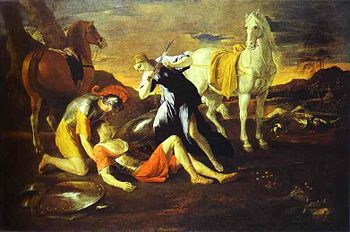 Tancred and Erminia - Nicolas Poussin