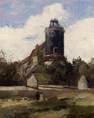 Telegraph Tower at Montmartre - Camille Pissarro