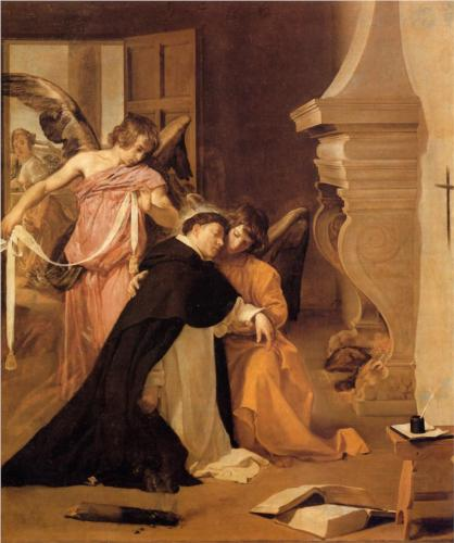 Temptation of St. Thomas Aquinas - Diego Velazquez