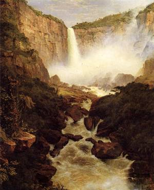 Tequendama Falls near Bogota - Frederic Edwin Church
