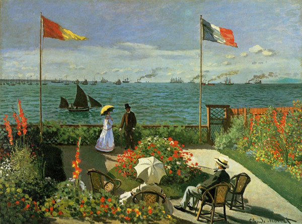 Terrace at Sainte-Adresse - Claude Monet