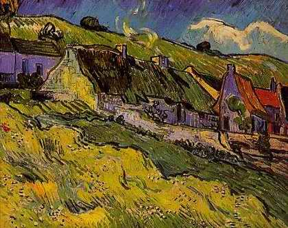 Thatched Cottages - Vincent van Gogh