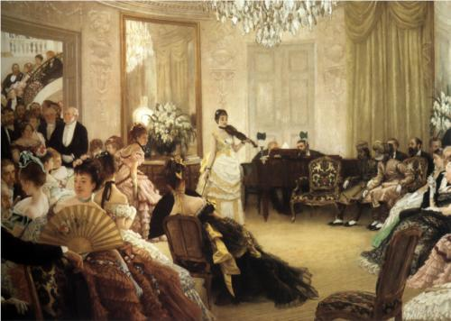 James Tissot - The Concert (Hush!)
