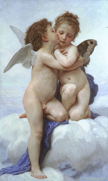 The First Kiss - William Adolphe Bouguereau