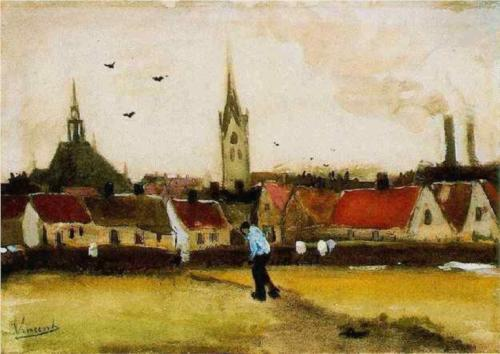 The Hague with the New Church - Vincent Van Gogh