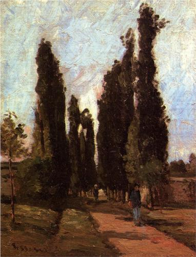 The Road - Camille Pissarro