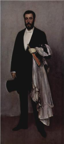 Portrait of Theodure Duret - James McNeill Whistler