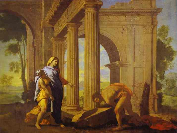 Theseus Finding His Father's Arms - Nicolas Poussin