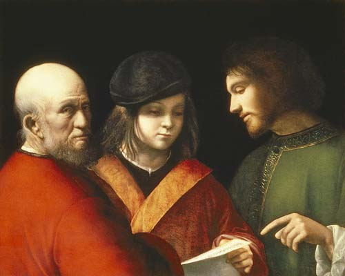 Three Ages - Giorgione (Giorgio Barbarelli da Castelfranco)