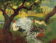Three Bathers with Irises - Paul Ranson