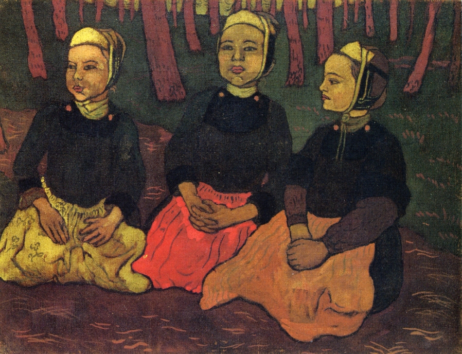 Three Breton Women in the Forest - Georges Lacombe