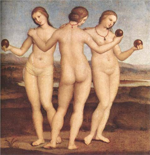 Three Graces - Raffaello Raphael Sanzio