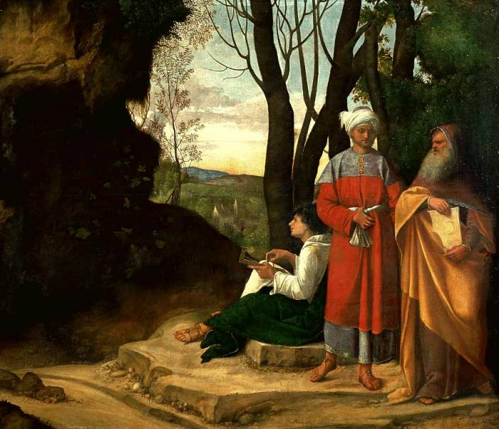 Three Philosophers - Giorgione (Giorgio Barbarelli da Castelfranco)