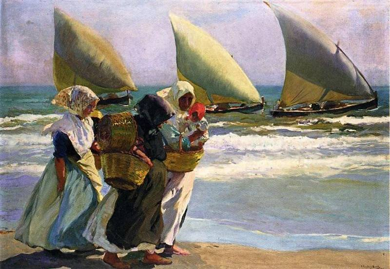 Three Sails - Joaquin Sorolla