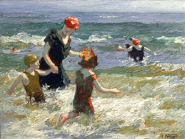 Timid Bather - Edward Henry Potthast