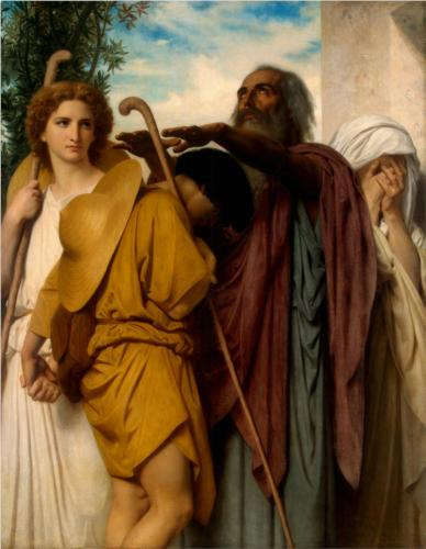 Tobias Receives his Father's Blessing - William Adolphe Bouguereau