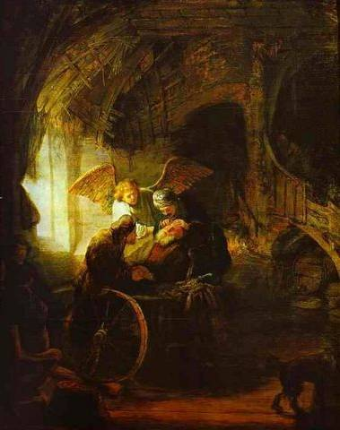 Tobias Returns Sight to His Father - Rembrandt van Rijn