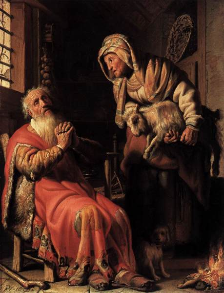 Tobit and Anna - Rembrandt van Rijn