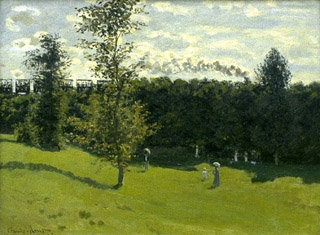 Train in the Countryside - Claude Monet