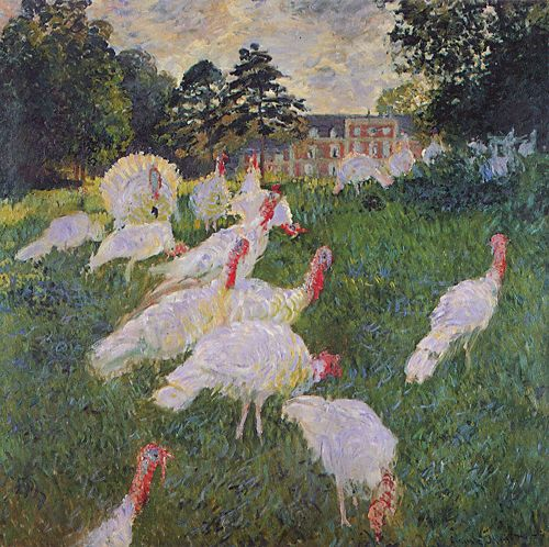 Turkeys - Claude Monet