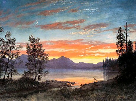 Twilight, Lake Tahoe - Albert Bierstadt