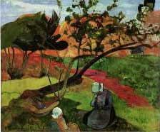 Two Breton Women - Paul Gauguin