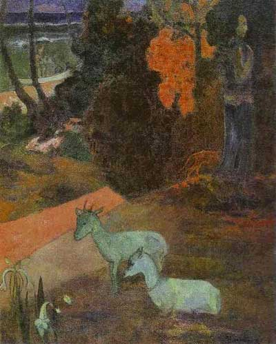 Two Goats (Tarari Maruru) - Paul Gauguin