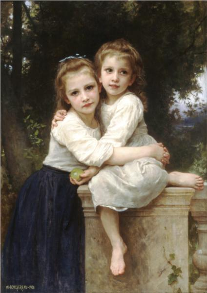 Two Sisters - William Adolphe Bouguereau