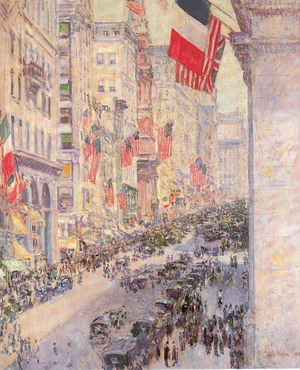 Up the Avenue from Thirty-Fourth Street - Childe Hassam