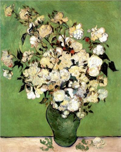 Vase of Roses - Vincent Van Gogh
