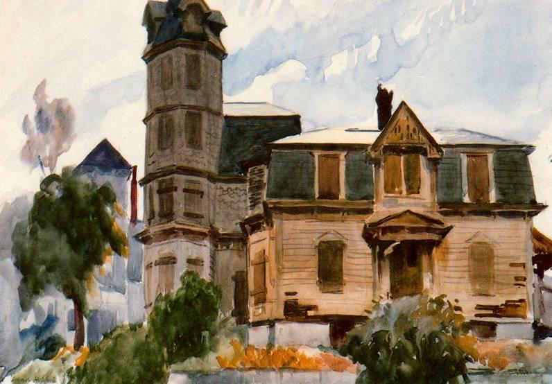 Victorian House Edward Hopper Oil Painting