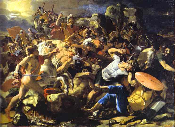 Victory of Joshua over Amorites - Nicolas Poussin