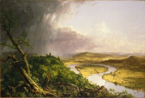 View from Mount Holyoke after a Thunderstorm (The Oxbow) - Thomas Cole