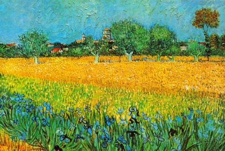 View of Arles with Irises - Vincent Van Gogh