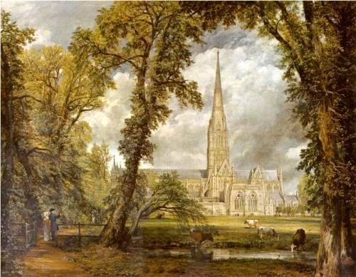 View of Salisbury Cathedral from the Bishop's Grounds - John Constable