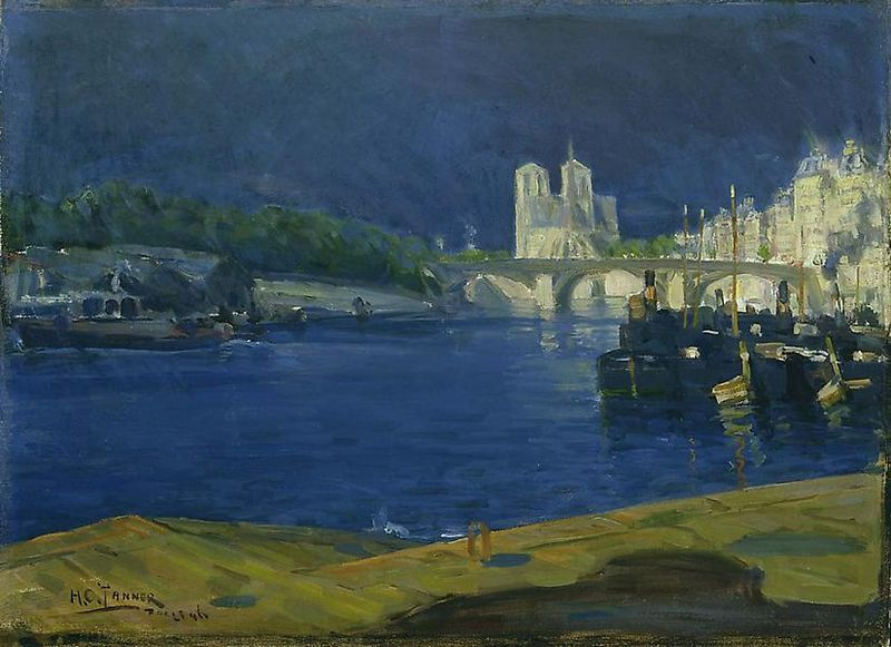 View of The Seine, Looking Toward Notre Dame - Henry Ossawa Tanner