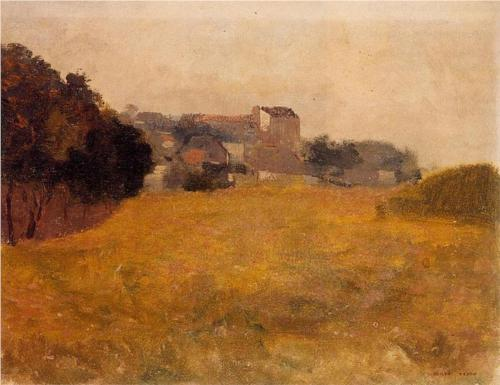 Village in the Medoc - Odilon Redon