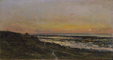 Villerville sur Mer Beach at Sunset - Charles Daubigny