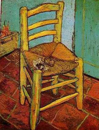 Vincent's Chair with His Pipe - Vincent van Gogh